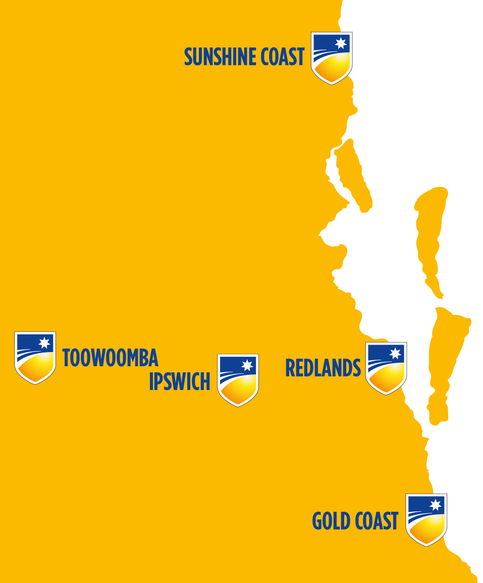 5 campuses in South East Queensland